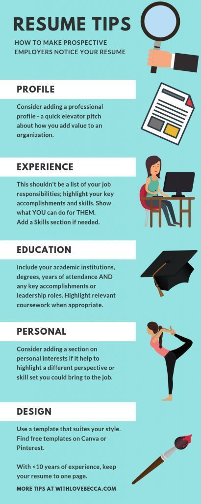 The Resume Sections You Need To Take Your Resume From Meh To We Need To Meet Her With Love Becca Good Resume Examples Resume Tips Resume Profile