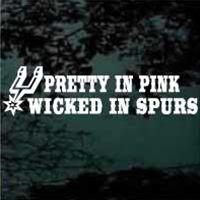 Pretty In Pink, Wicked In Spurs!  True story:)