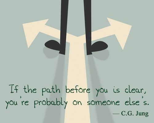 Carl Jung quote on path of life