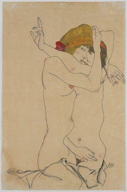 Egon Schiele   Two Women Embracing   The Met 1913