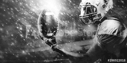 American Football Sportsman Player On Stadium Running In Action Sport Wa Action American Ameri In 2020 Sports Wallpapers Football Illustration American Football