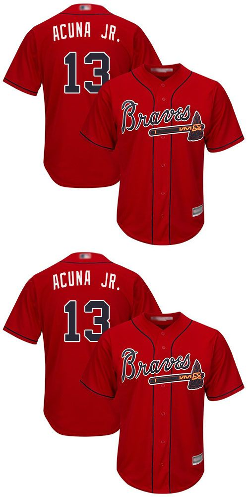 Cheap Wholesale Braves 13 Ronald Acuna Jr Red New Cool Base Stitched Baseball Jersey Mlb Mlb Jersey Outfit Men Cheap Jerseys C With Images Baseball Jerseys Braves Jersey