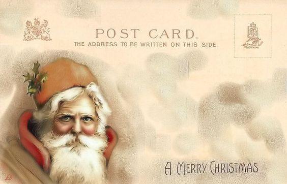 Brocante Brie, bewerkt postkaartje kerst