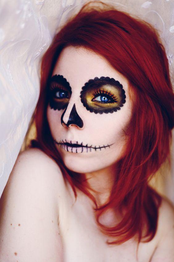beautiful, simple sugar skull. @Kay Richards Richards Richards Richards Richards