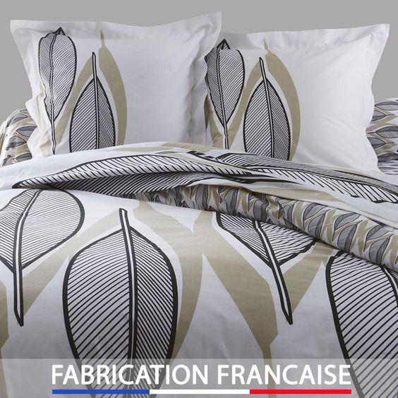 housse de couette 240x260 design nature 2 taies d. Black Bedroom Furniture Sets. Home Design Ideas