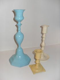 Oops!: Painted Brass Candlesticks: Before and After