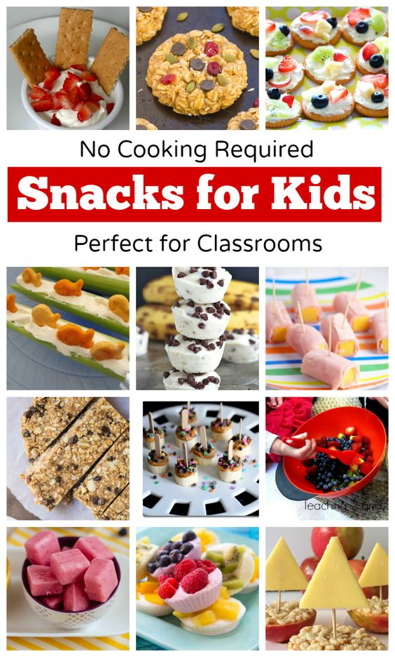 No-Cook Snacks for Kids - Perfect for classroom cooking activities or any time you want something that doesn't require cooking! Teaching 2 and 3 Year Olds