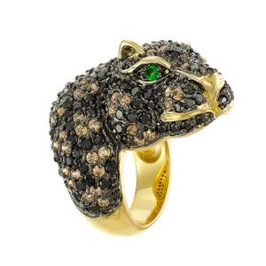 Leopard Head Ring, $202, now featured on Fab.