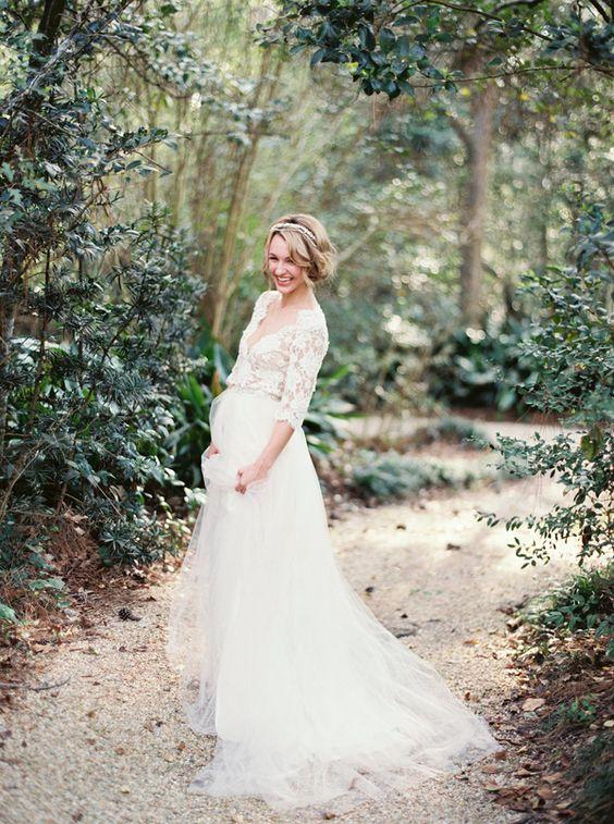 Romantic Lace Bridal Portraits | Wedding Ideas | OnceWed.com: