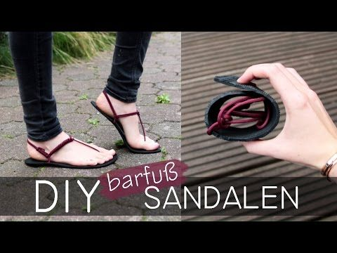 DIY Huaraches Sandalen - Barfußschuhe - YouTube