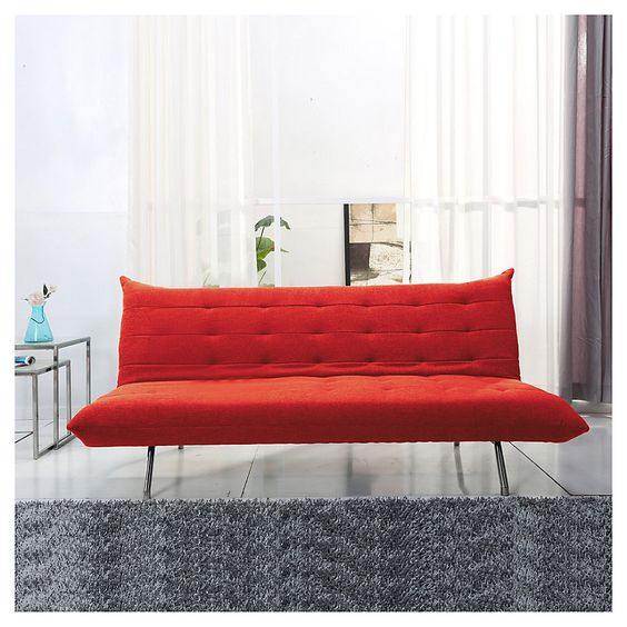 Home collection fut n mets 186x97x83 cm for Sofa cama sodimac