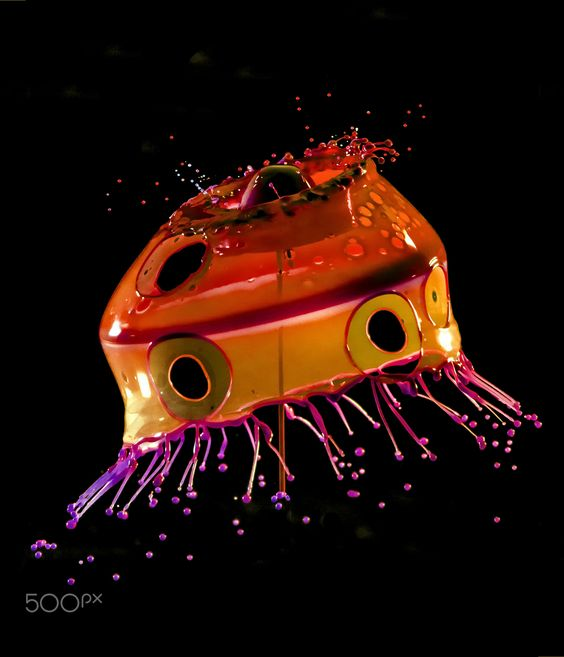 Stopshot - High speed paint drops collision by Stanley Sutton, 500px