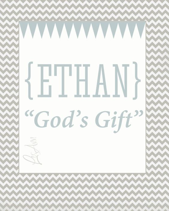 Ethan Custom Name Meaning Print for Baby by ...