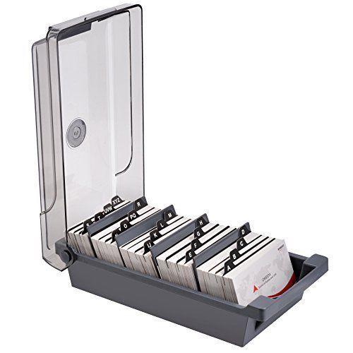 Maxgear Business Card Holder Box Business Card File Card Storage Box Organize Maxgear Card Box Holder Business Card Organizer Business Card Holders