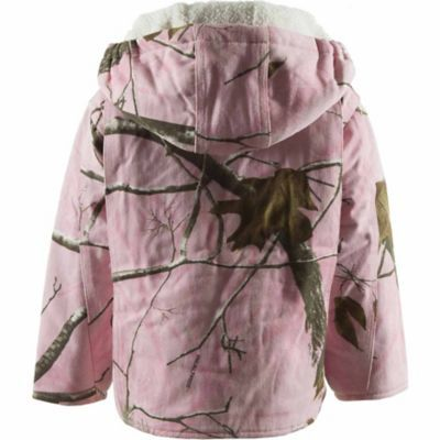 C.E. Schmidt Toddler Girl's Camouflage Sherpa-Lined Insulated Hooded Jacket
