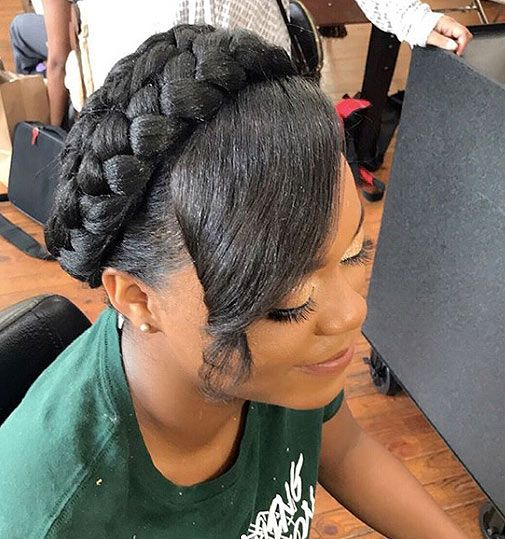 Crown Braid Black Hair Designs For Your Mesmerizing Insta Pics