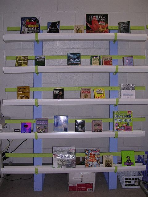 Classroom Bookcase Ideas : Gutter bookcases that are portable classroom pinterest