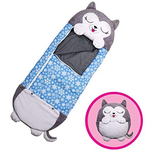 Pink cat Fun Sleeping Bag Surprise for Kids Unicorn Sleeping Bag Play Pillow and Sleeping Bag