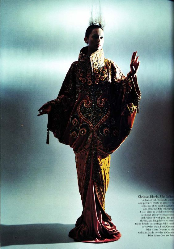 Magazine:Bazaar US April 1998  Title:Perchance To Dream  Model:Kate Moss  Photographer:Mario Sorrenti