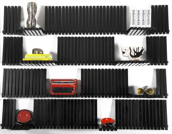 """The """"Piano Shelf"""" by designer + artist Sebastian Errazuriz. Awesome and versatile."""