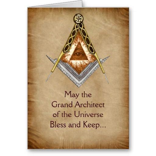 Grand Architect of the Universe Holiday Card | Freemason ...