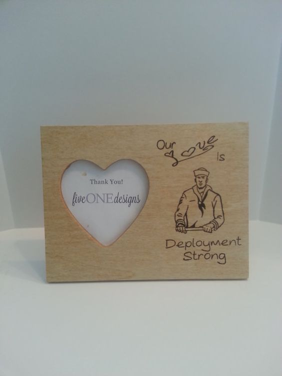 Navy  Our Love Is Deployment Strong Photo Frame - USN - perfect for any sailor