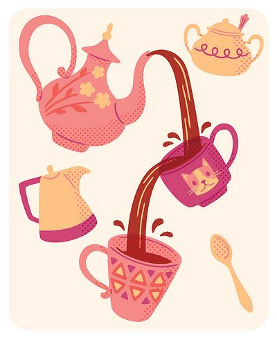tea for two...on my kitchen wall:)