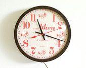 Vintage Advertising Wall Clock / Kitchen Clock / Industrial Decor