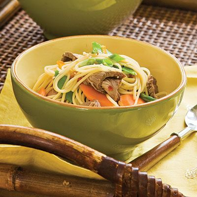 Orange Beef Pasta - Easy Pasta Dinner Recipes - Southern Living