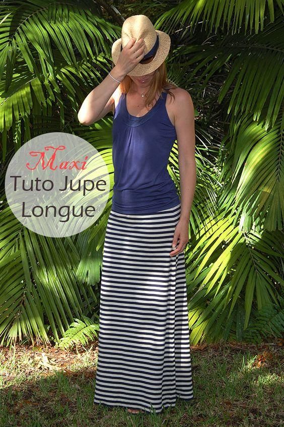 Tutoriel jupe longue avec images et détails clairs. Confortable et facile à faire !