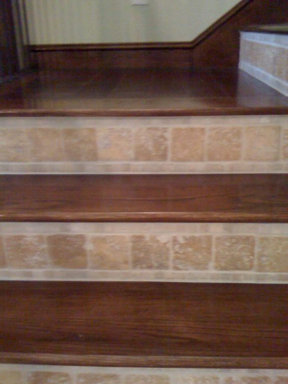 Best Tiled Wood Stairs We Have The Wood Stairs Now Need To 400 x 300