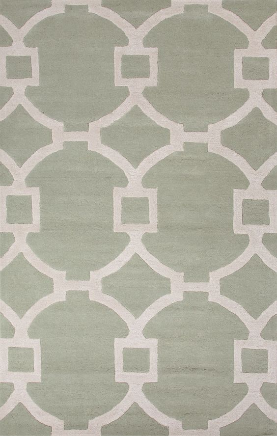 Jaipur Rugs Modern Geometric Pattern Neutral Wool and Art Silk Area Rug CT64 (Rectangle)