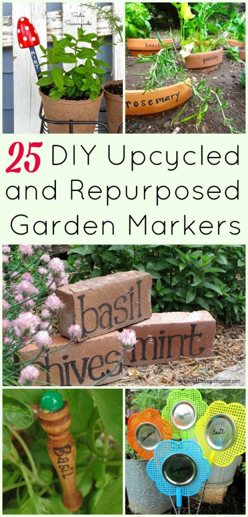 Upcycling Crafts For Garden Markers And Plant Tags That You Ll