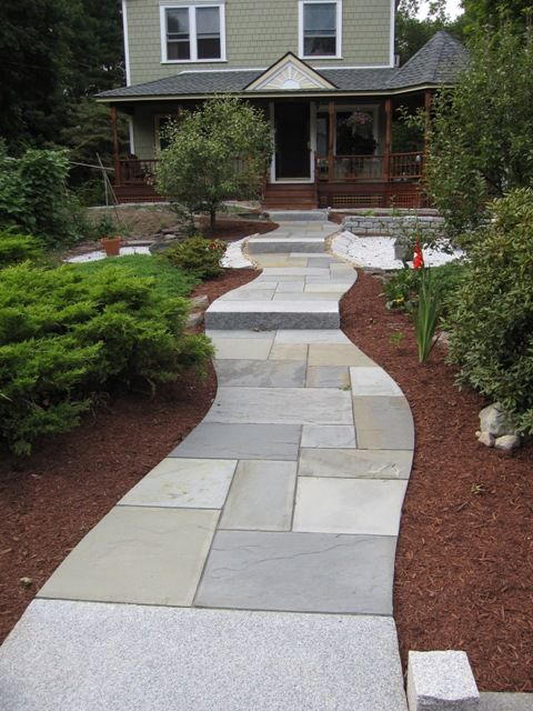 Pattern for walkway bluestone patio fits precisely and for Bluestone porch