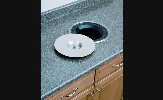 Contenant d chets encastr pour comptoir de cuisine for Accessoire de rangement de cuisine