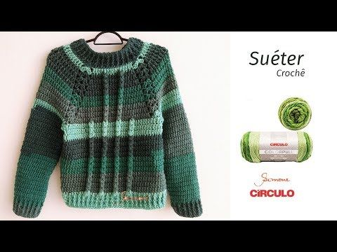 Sueter Em Croche Passo A Passo Com Colorpull Prof Simone