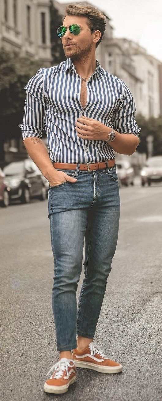 13 Fresh Ways To Style Dress Shirts In 2020 Mens Casual Outfits