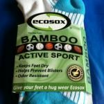Blue Bamboo Ecosox are ecofriendly, soft, silky and help prevent blisters. Available in Tropical Blue, Flamingo Pink, Spring Green and Black/White! At www.BarefootAC.com.