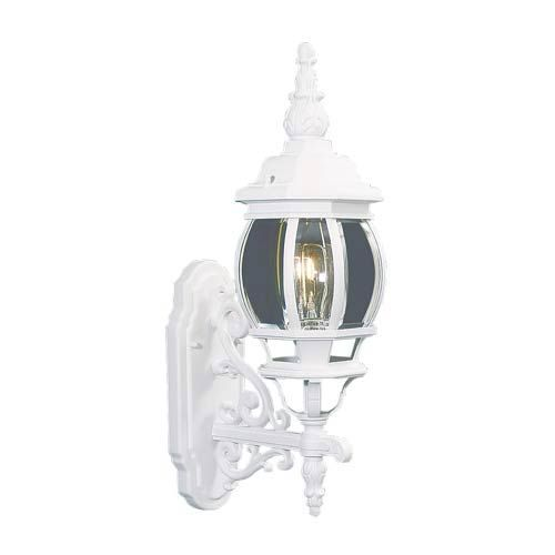 Frontenac Livex 1 Light White Outdoor Wall Lantern Lighting Fixture Sale 7520-03