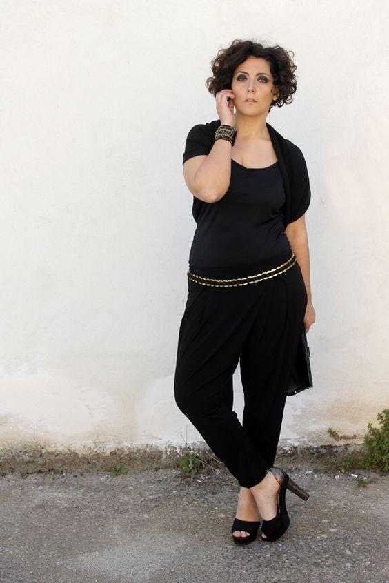 Plus size girls, Jumpsuits and Harem pants on Pinterest