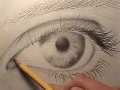 كيفية رسم العين بالرصاص Youtube Eye Drawing Realistic Eye Drawing Drawings