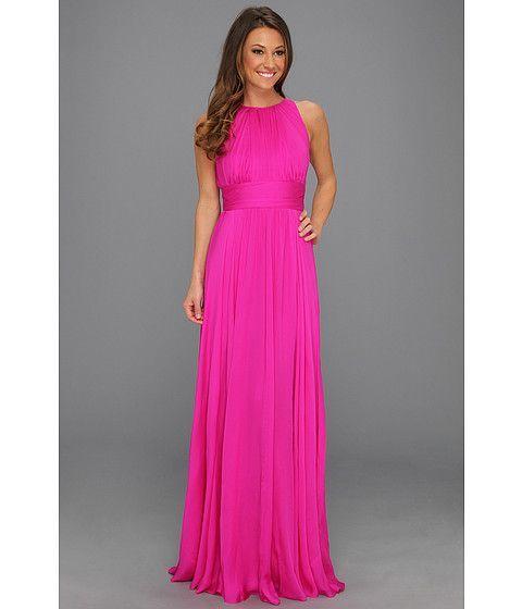 Hot pink gown
