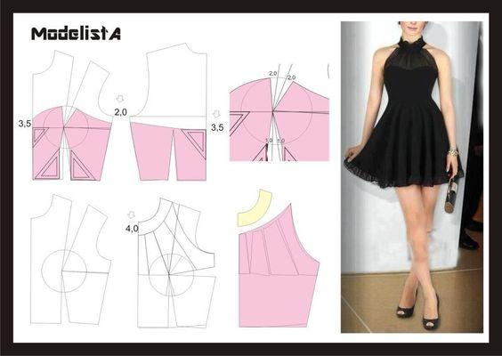 DIY Little Black Dress - FREE Sewing Pattern Draft - FREE Sewing ...