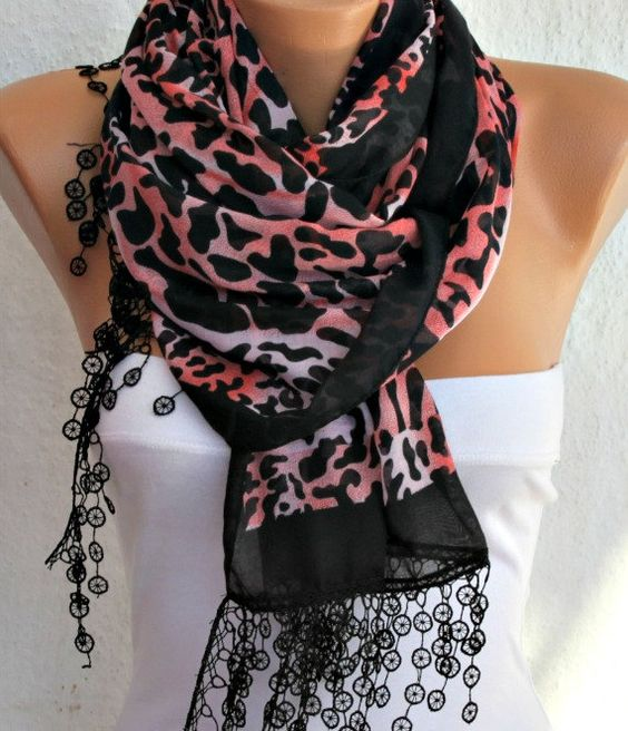 Leopard  Scarf   Cotton Scarf Headband Necklace Cowl by fatwoman, $17.00