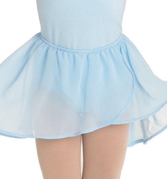 Bloch Basic Georgette Mock Wrap Skirt for Girls