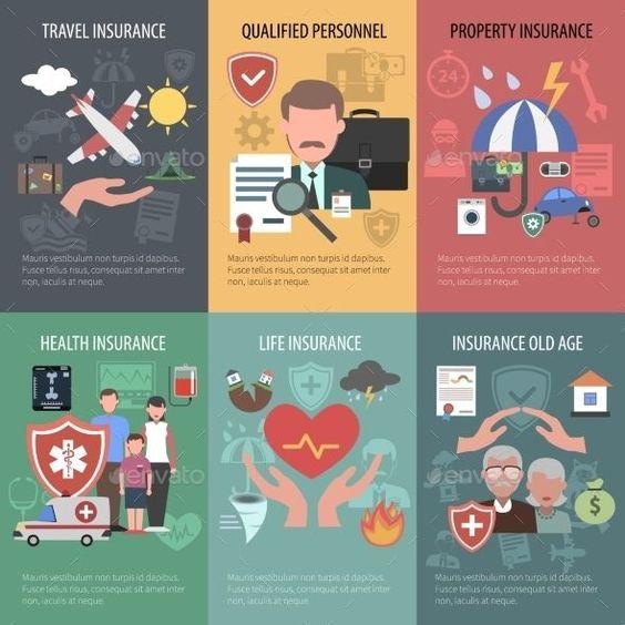 Insurance Poster Set Healthinsurance Insurance Poster Health