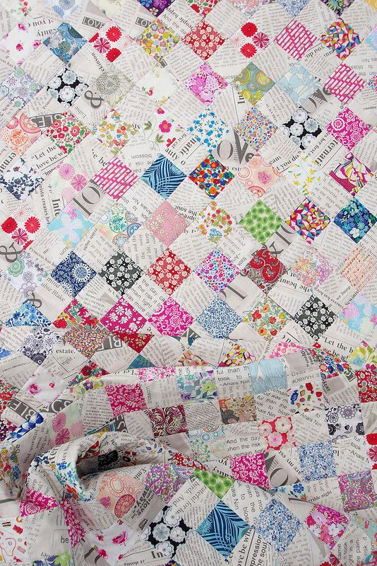 Red Pepper Quilts: Liberty Tana Lawn and Collage Checkerboard Quilt: