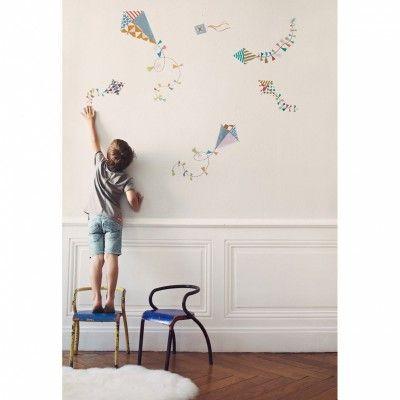 Le sticker Les Cerfs-volants de Poisson Bulle viendra décorer la chambre de…