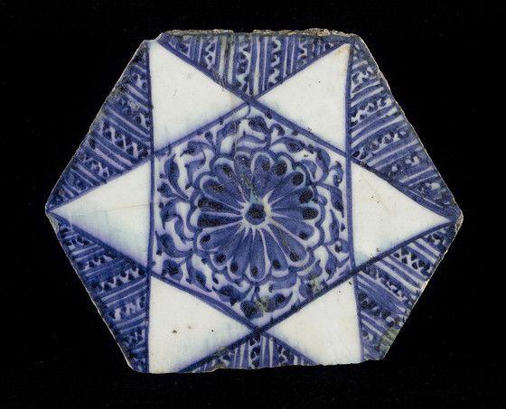 Tile  Syria, circa 1430  Ceramics  Fritware, underglaze-painted  6 5/8 x 8 in. (16.82 x 20.32 cm) | LACMA Collections