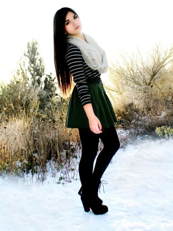 Winter skirt outfit ideas http stylishwife com 2014 11 sexy winter